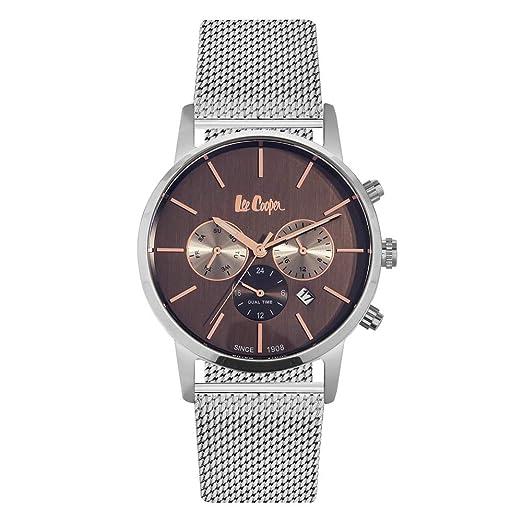 Lee Cooper Homme Uhr Analogique Quartz mit Acier inoxydable Armband LC06342.540: Amazon.es: Relojes