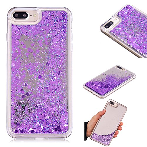 iPhone 8 Plus Case, iPhone 7 Plus Case, KMISS Mirror Luxury Glitter Liquid Floating Bling Sparkle Fashion Creative Design Mirror Bumper Protective Cover Apple iPhone 7 Plus/8 Plus - For Phone Nokia Cases Girls 635