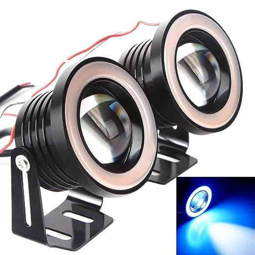 "18 opinioni per Shiningeyes 2pcs 64mm (2.5"") Blu Ghiaccio 12V 10W Impermeabile IP65 3200LM Auto"