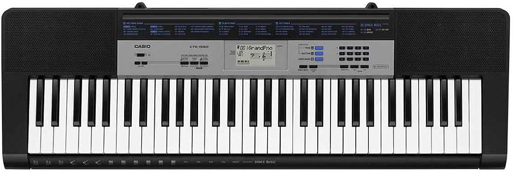 Casio CTK- 1500 - Keyboard, color Negro: Amazon.es: Instrumentos musicales