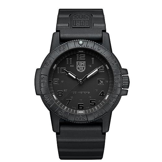 Luminox Reloj Analógico para Hombre de Cuarzo con Correa en PU XS.0321.BO.L: Amazon.es: Relojes