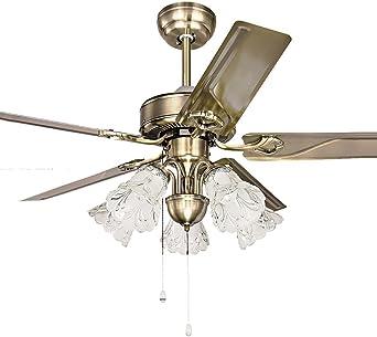 Abanico de techo de hierro vintage americano de 106,68 cm, lámpara ...