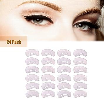 Amazon 24pcs eyebrow stencils template clear eva card reusable 24pcs eyebrow stencils template clear eva card reusable eyebrow dreawing guide card eyebrow grooming maxwellsz