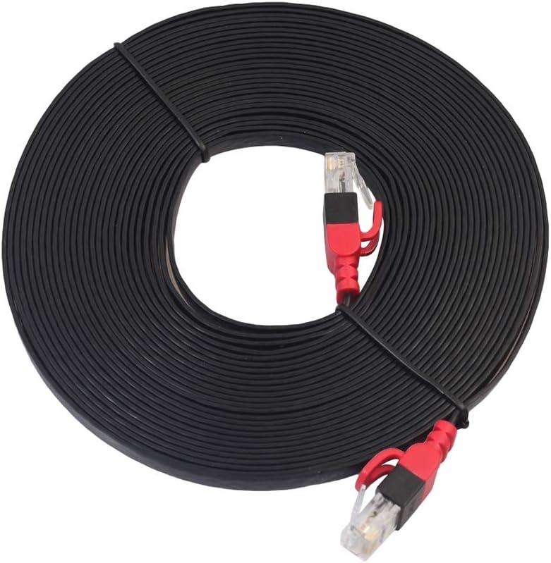 Hotaluyt Cable de Red LAN 1000Mbps Cat6 Plana de PVC de Internet Ethernet Remiendo Delgado Alambre del Cable de Interfaz RJ45 Línea