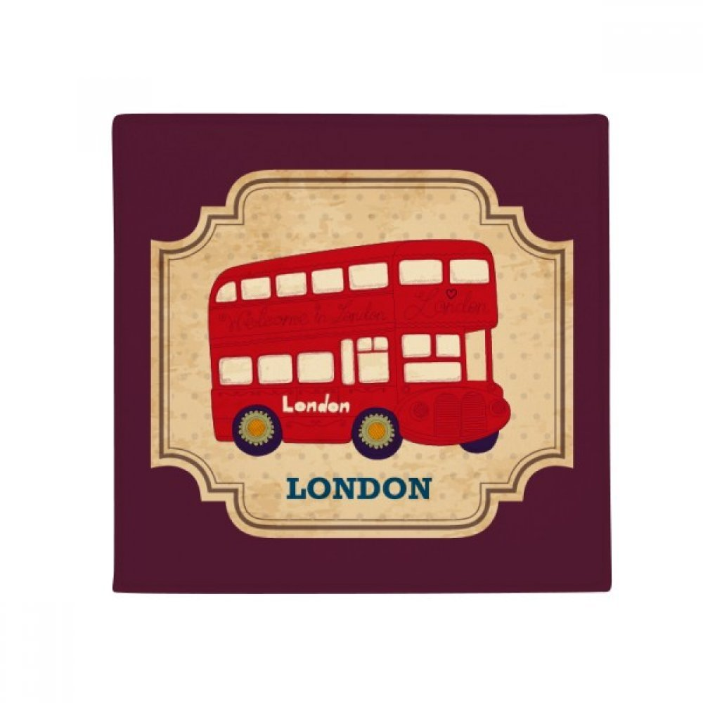DIYthinker UK London Double-Decker Bus Stamp Anti-Slip Floor Pet Mat Square Home Kitchen Door 80Cm Gift