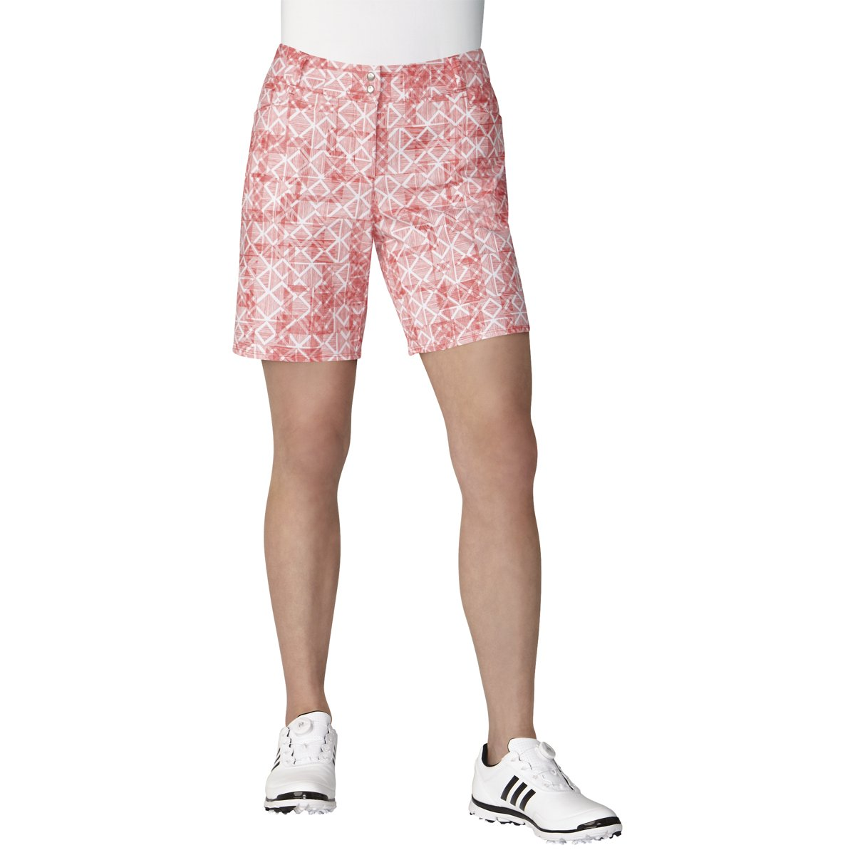 adidas Golf Women's Essentials Printed 7'' Short, Real Coral, Size 0 by adidas