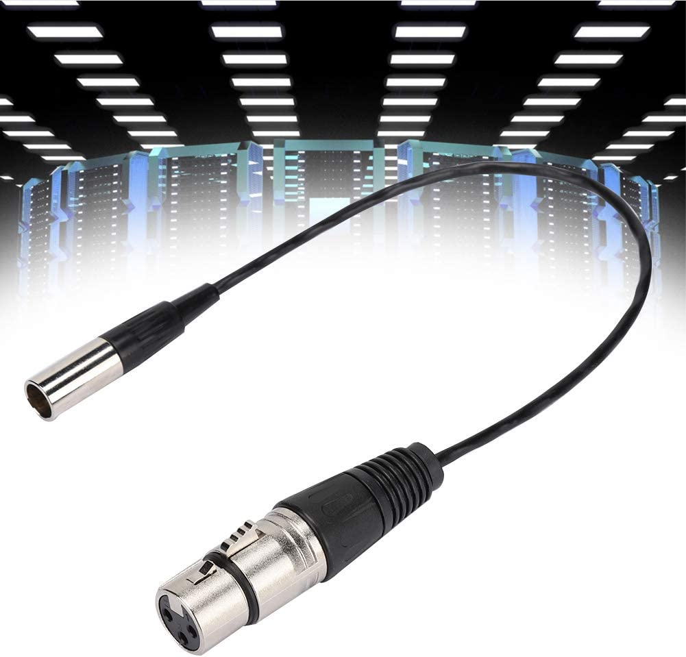 Lightweight 30cm Mini XLR 3Pin to XLR Cable for SLR Camera Mini XLR Audio Cable