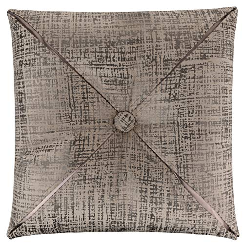 - Forest & Twelfth Home Velvet Throw Pillows-Decorative Metallic Printed Throw Pillows for Living Room & Bedroom-Soft Cotton Blend Home Decor Pillows (Potato Brown/Gun Metal, 20 x 20)