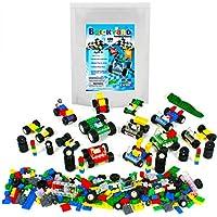 459-Pcs. Brickyard Building Blocks Set w/ Windshields Wheels Tires & Axles (Multi Color)