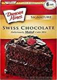 Duncan Hines Signature Cake Mix, Swiss Chocolate, 16.5 Ounce (Pack of 4)