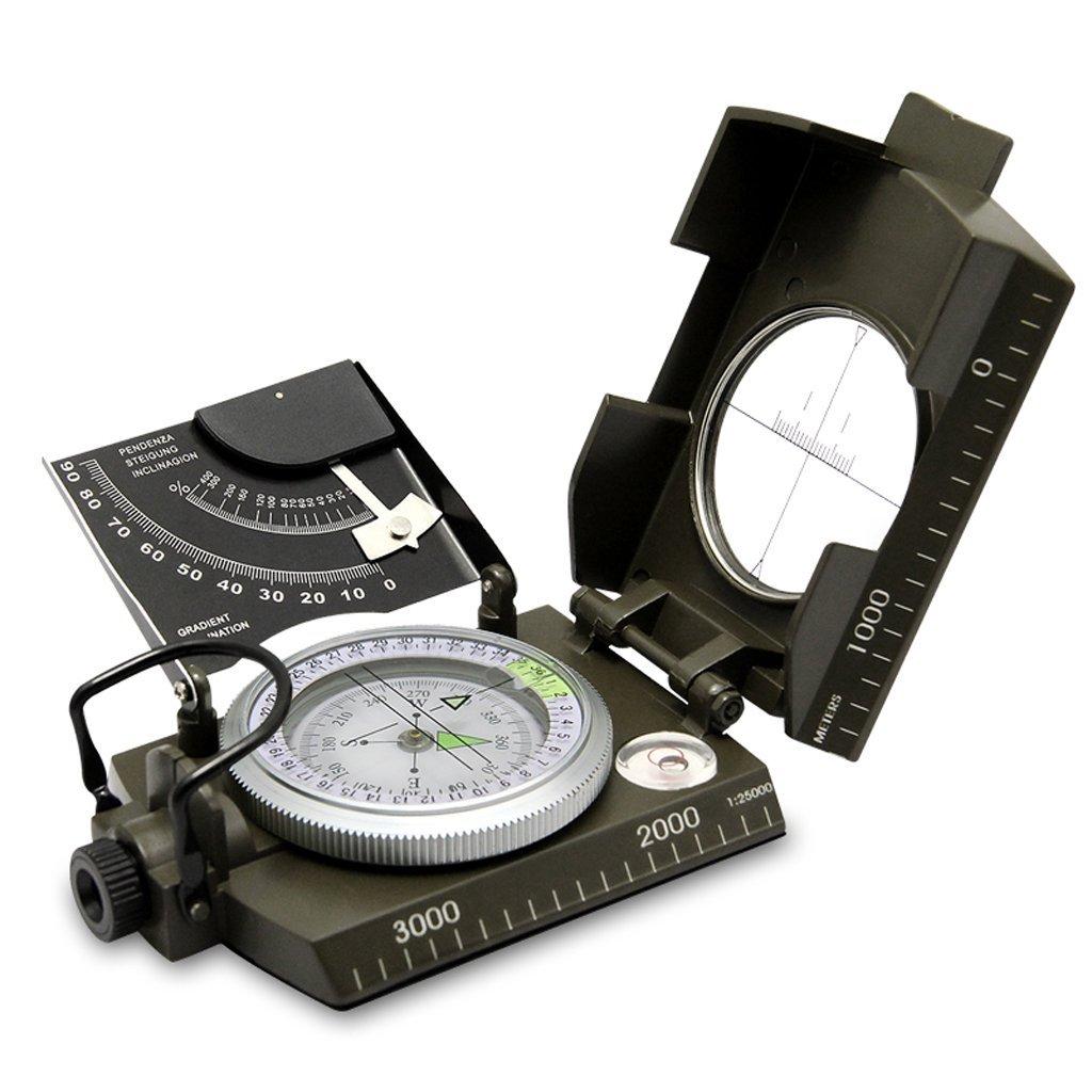 YUNFEILIU Geometrisches Kompaßinstrument des Kompass-Multifunktionsmilitärkompasses