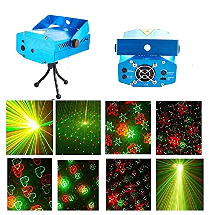 prop it up multi pattern 12 design sound activated laser mini disco light projector stage lighting for party ktv
