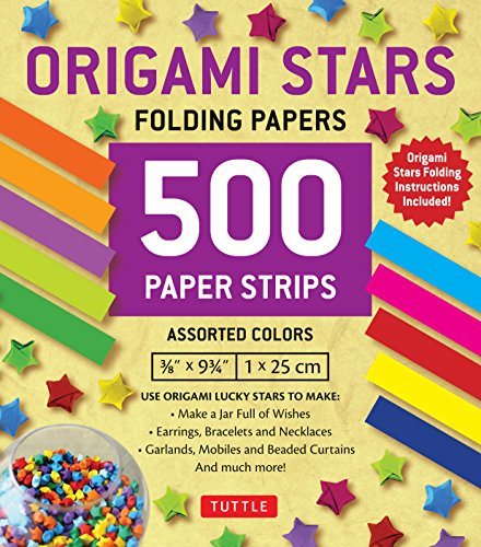 Origami Stars Papers 500 Paper Strips in Assorted Colors: 10 Colors - 500 Sheets - Easy Instructions for Origami Lucky Star (Paper Lucky Stars)