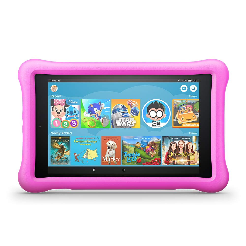 All-New Fire HD 8 Kids Edition Tablet, 8'' HD Display, 32 GB, Pink Kid-Proof Case