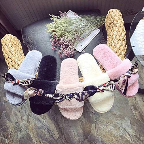 Moda In Indossare Bianca Jbldy Antiscivolo Cotone Pantofole Femminile Scarpe Autunno Piatte Casa Comfort Fluff Versatili xCwcOwqYZ
