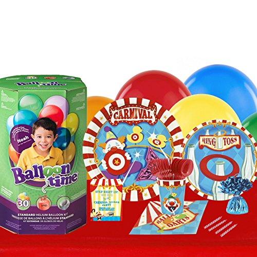 Carnival Games Party Supplies - Party Pack with Helium for 16 (Elephant Tamer Costume)