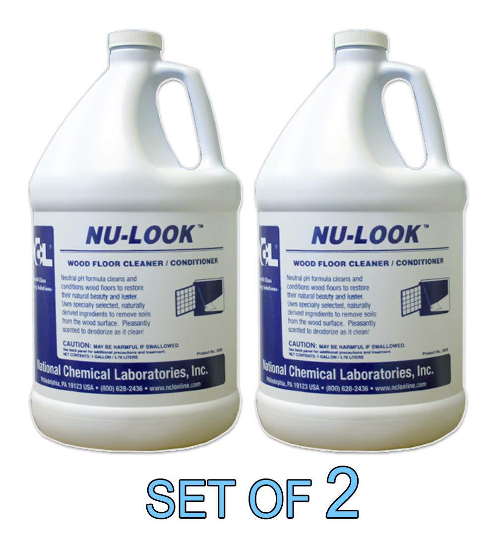 NU LOOK Wood Floor Cleaner/Conditioner 1 GAL [SET OF 2]