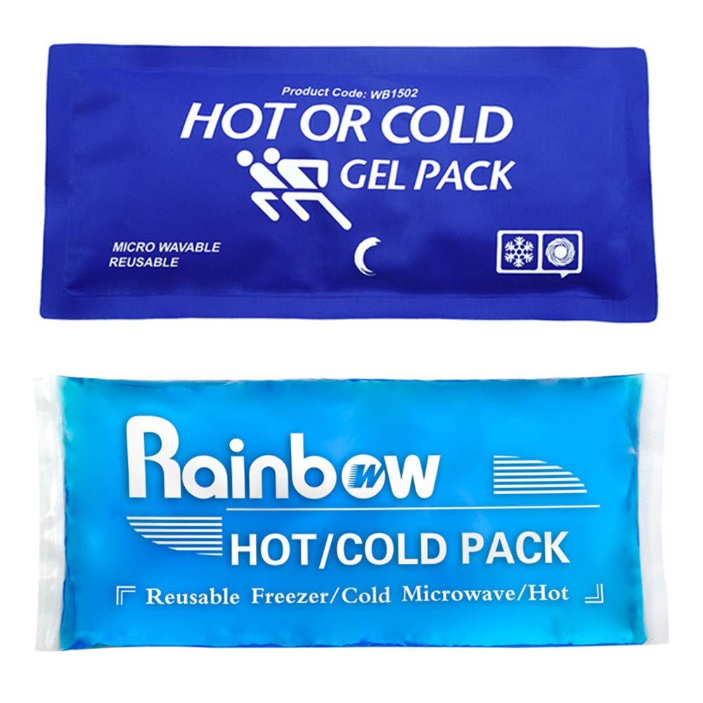 Bolsas De Gel& Wrap con Reutilizable Elástico Correa de Velcro, caliente frío terapia Compresión alivio del dolor para lesiones