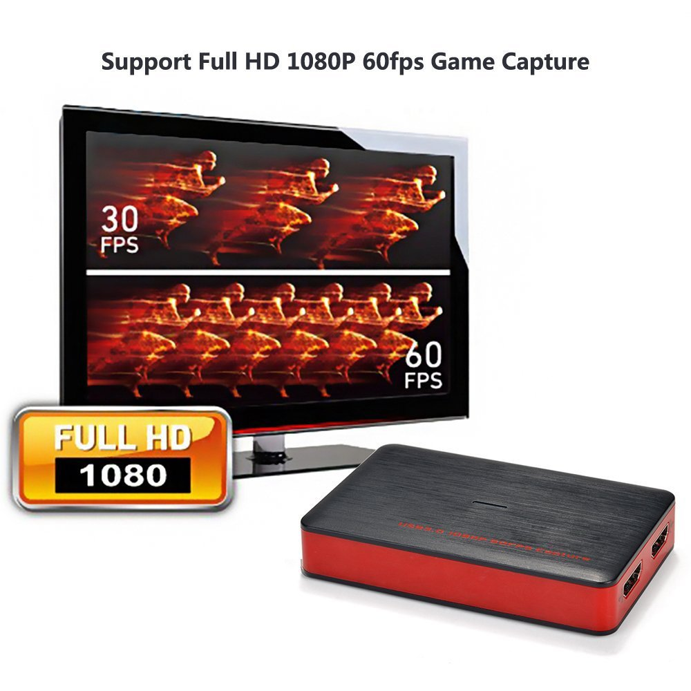 Y&H HDMI Game Capture Card USB3.0 1080P Game Recorder support Live Streaming,HD Video Capture Card for PS3 PS4 Xbox One 360 Wii U and Nintendo Switch,Compatible with Windows Linux Os X System by Y&H (Image #4)