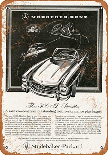 - Wall-Color 7 x 10 Metal Sign - 1958 Mercedes Benz 300 SL Roadster - Vintage Look