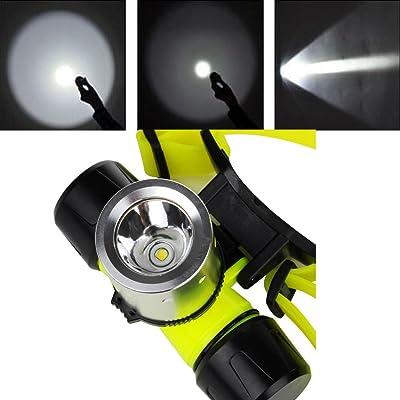 Hangang Cree T6 Led Etanche Plongee Sous Marine Head Light Lampe De