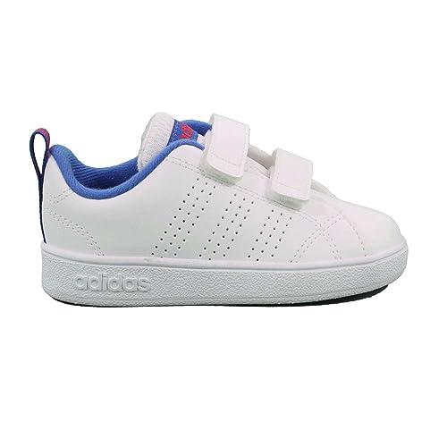 super popular 9268b a2d7b Adidas Vs Advantage Clean Cmf, Scarpe da Ginnastica Basse Unisex-Bimbi,  Bianco Ftwwht