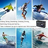 Ocamo AY-N470 Action Camera Ultra HD 4K WiFi 1080P/60fps Lens Helmet Cam Waterproof Pro Sports Camera
