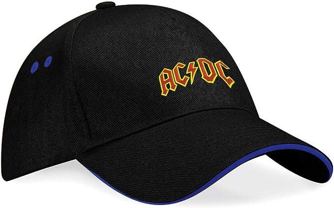 AC DC AC-DC K133 - Gorra de béisbol, diseño con Logotipo Bordado ...