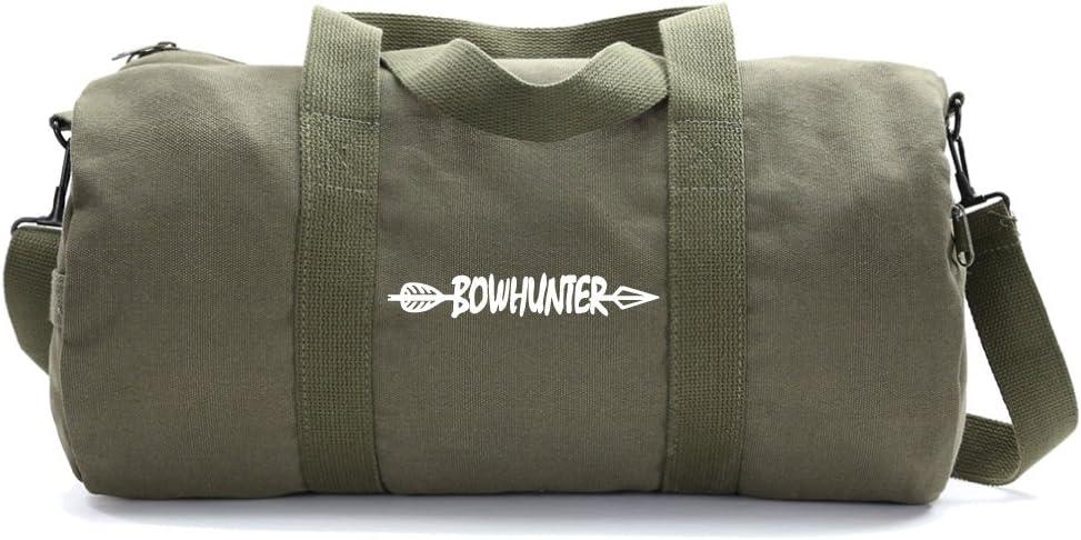 Medium Bow Hunter with Arrow Heavyweight Canvas Duffel Bag in Olive