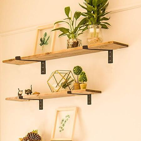 soportes para estante r/ústico estantes de pared vintage Estilo a tablas de andamio 2 soportes r/ústicos para estante de andamio soportes de /ángulo para estante industrial