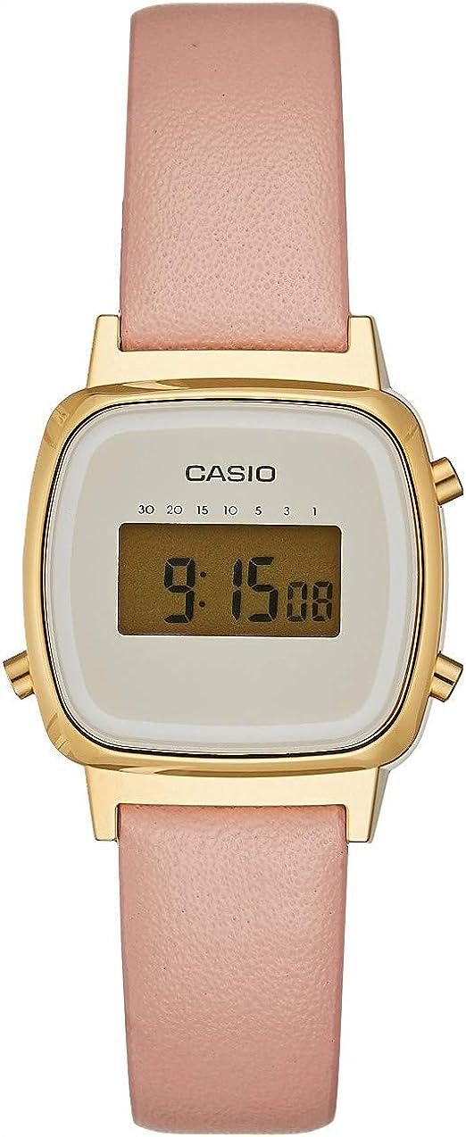 Casio Montre digitale femme avec bracelet en cuir | ASOS