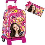 Backpack Trolley Set Soy Luna Sports Large School Bag 43cm Bundle with Trolley and Pencilcase