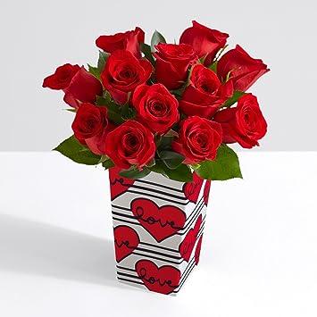 amazon com proflowers 12 count red one dozen red birthday roses