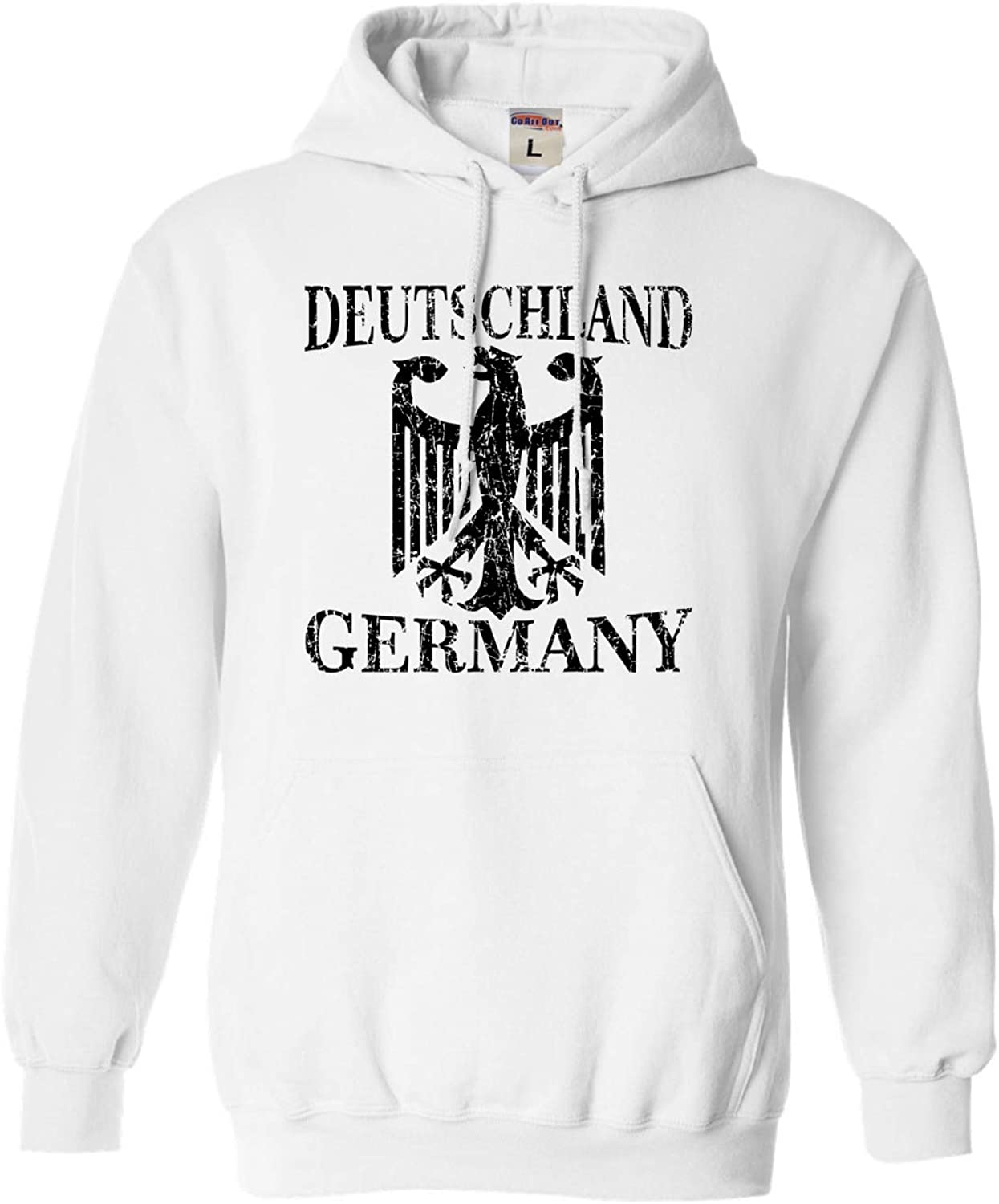 Go All Out Adult and Youth Germany Deutschland Distressed Crest Sweatshirt Hoodie