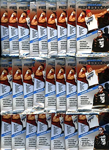 Huge Lot of TWENTY-FOUR(24) 2012 Tristar TNA Wrestling Impact Reflexxions Factory Sealed Retail Foil Packs in Mint Condition -