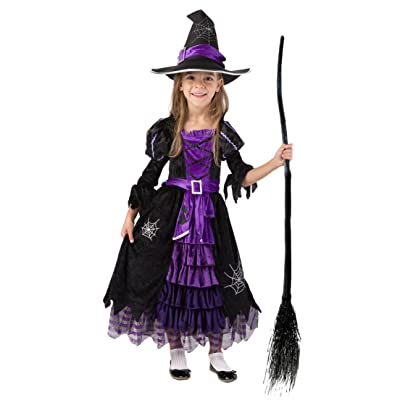 Spooktacular Creations Fairytale Witch Cute Witch Costume Deluxe Set for Girls (M 8-10): Clothing
