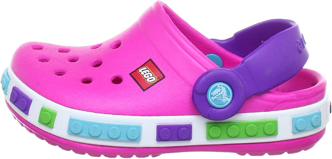 Crocs Crocband Kids Lego Rose 32//33 EU Neon Magenta//Neon Purple Sabots Mixte Enfant