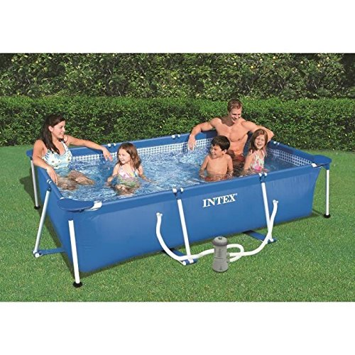 Intex-Set Pool rechteckig blau 300x 200x 75cm 3800L