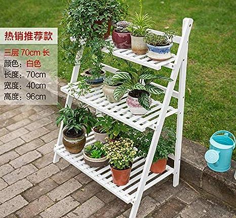EBTOOLS - Estantería plegable de 3 capas para plantas, bambú, para balcón, salón, jardín, terraza, 70 x 40 x 96 cm: Amazon.es: Juguetes y juegos