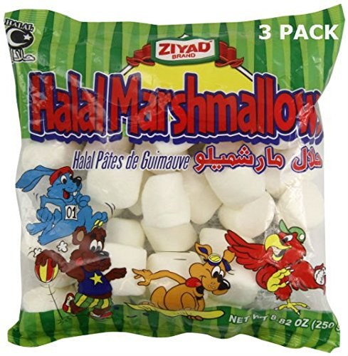 Ziyad Halal Marshmallows- 3 Pack of 8.82 Ounce Bags