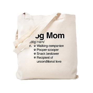 4b04250b0e1 Amazon.com: CafePress - Dog Mom - Natural Canvas Tote Bag, Cloth ...