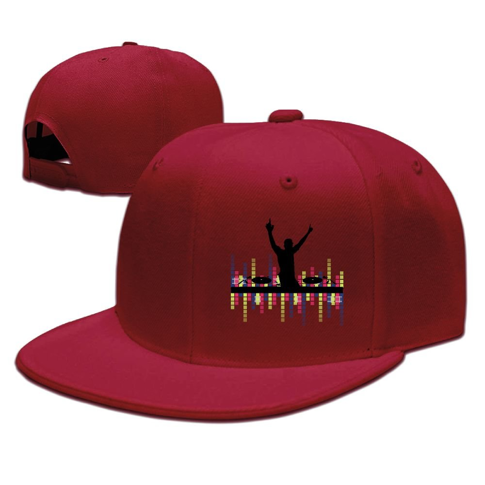 Lights DJ Sound Activated Light Up Rave Unisex Snapback Hat Cool Flat Caps New