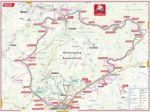 Nurburgring Nordschleife Course Map By B B Berndtson Berndtson