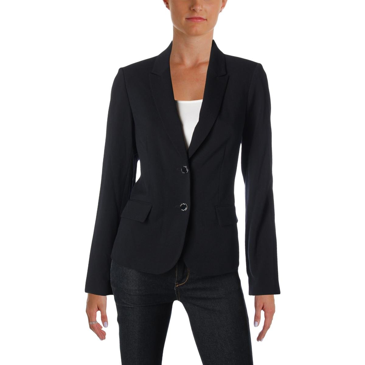 Calvin Klein Women's Petite Two Button Lux Blazer