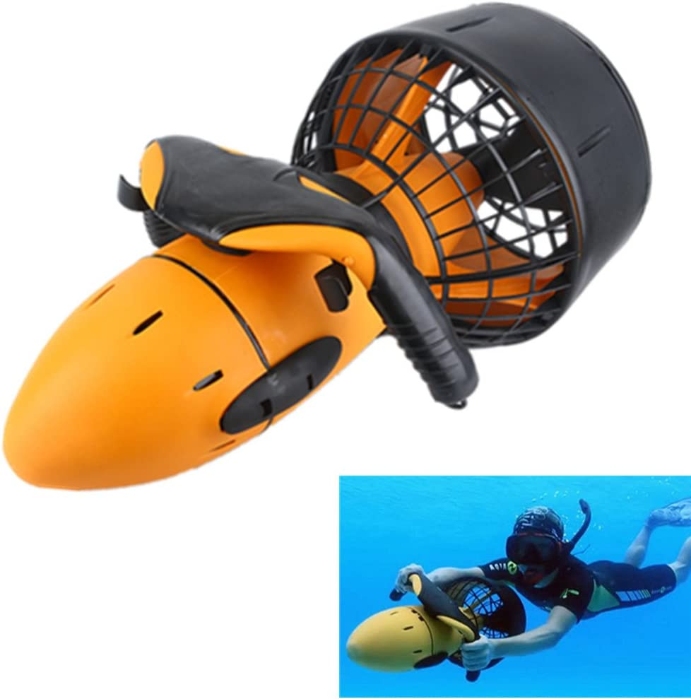 Hengyuanyi Scooter de mar bajo el Agua Scooter de mar el/éctrico a Prueba de Agua 300W Scooter de Doble Velocidad Submarino H/élice Piscina Scooter Deportes acu/áticos