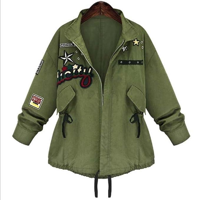 sophia17 mujeres Casual Suelto ejército verde cordón chaqueta abrigo Parka Outwear - -: Amazon.es: Ropa y accesorios