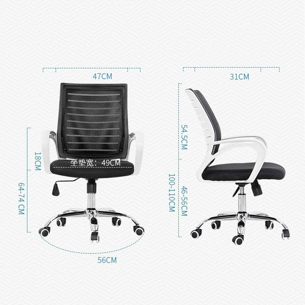XBZHP Chaise De Bureau Ergonomique, Chaise De Jeu D\'ordinateur, Hauteur Réglable Et Hauteur D\'accoudoir - 5 Couleurs en Option (Color : B) D