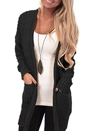 Lovaru Women's Long Sleeve Open Front Chunky Warm Cardigans ...