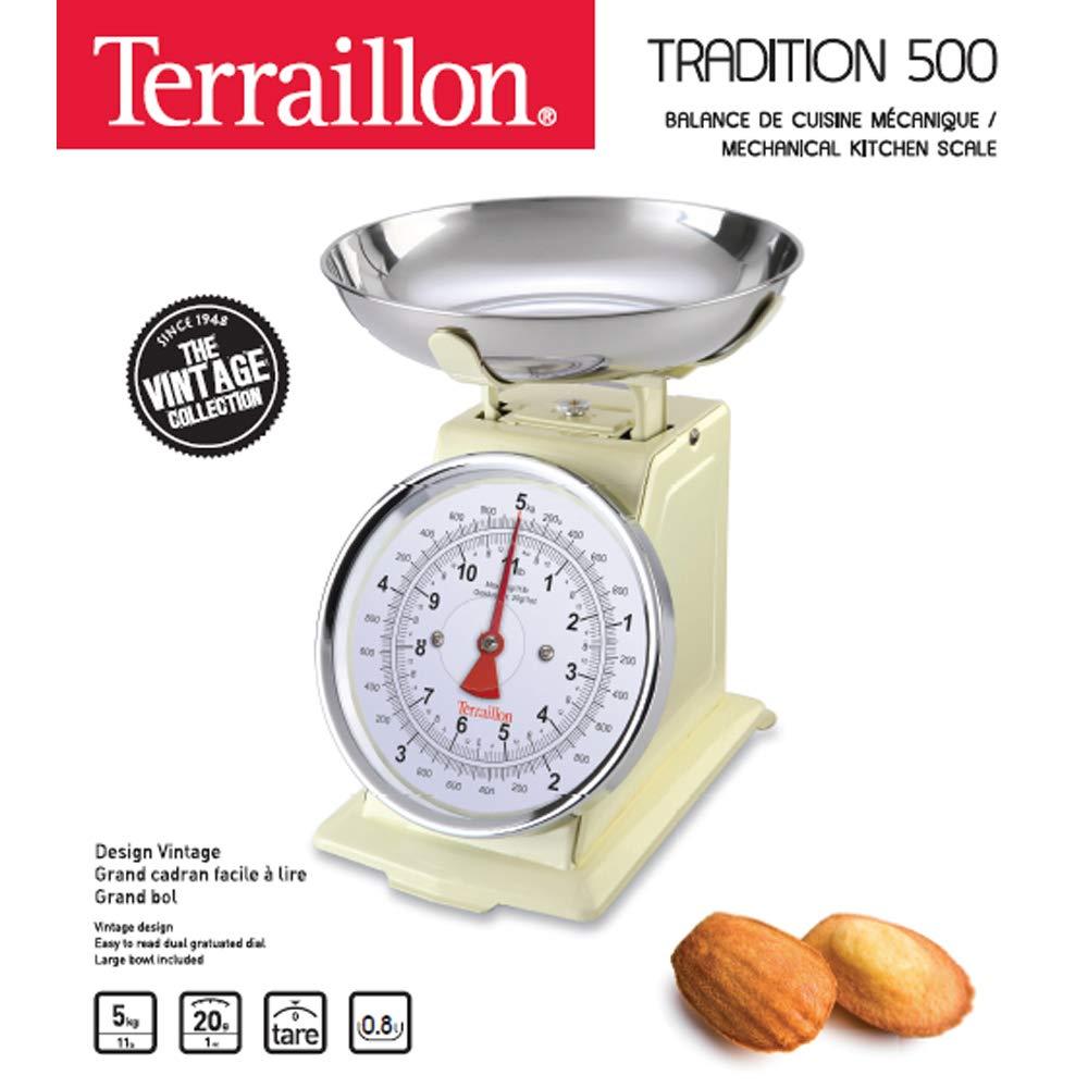 Cream, 240 x 210 x 260 mm Terraillon Tradition 500 B/áscula de Cocina