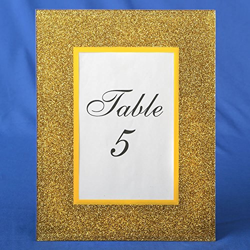 24 Gold Glitter 4 X 6 Frames Wedding Favors by Fashioncraft (Image #1)